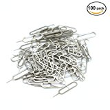 100Pcs SIM Card Tray Removal Remover Eject Pin Key Tool ,Compatible For iPhones