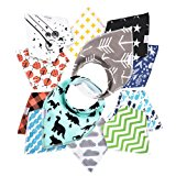 12- Pack Baby Bandana Drool Bibs for Drooling and Teething By Daulia, Unisex super absorbent Organic Cotton, Cute Baby Gift for Boys & Girls, Toddler Baby Shower gift set