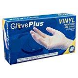 AMMEX - IVPF44100-BX - Vinyl Gloves - GlovePlus - Disposable, Powder Free, Non-Sterile, 4mil, Medium, Clear (Box of 100)