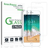 """iPhone 8, 7, 6S, 6 Screen Protector Glass, amFilm Tempered Glass Screen Protector for Apple iPhone 8, 7, iPhone 6S, iPhone 6 [4.7""""inch] 2017 2016, 2015 (2-Pack)"""