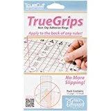 Bulk Buy: Grace Company TrueCut Non Slip Ruler Grips-Transparent 15/Pkg (3-Pack)