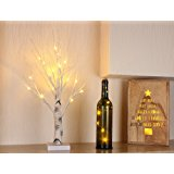 [UPDATED VERSION]Bolylight LED Birch Tree 6ft 96L LED Christmas Decorations Lighted Tree Decor for Bedroom/Party/Wedding/Office/Home Outdoor and Indoor Use White