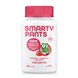 SmartyPants Kids Probiotic Complete; Probiotics & Prebiotics; Digestive & Immune Support* Gummies; 4 billion CFU, VEGAN, NON-GMO, NO REFRIGERATION REQUIRED, Strawberry Creme; 60 Count