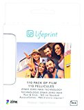 Lifeprint 110 pack of film for Lifeprint Augmented Reality Photo AND Video Printer. 2x3 Zero Ink sticky backed film (PH05)