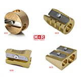 Mobius + Ruppert (M+R) Brass Pencil Sharpener - choose from 4 shapes! Made in Germany - finest in the world! (600 - Single Wedge)