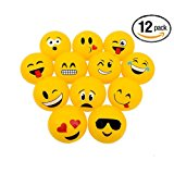 "16"" Emoji Party Pack Inflatable Beach Balls - Beach Pool Party Toys (12 Pack)"