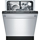 "Bosch SHX3AR75UC Ascenta 24"" Wide Fully Integrated Built-In Dishwasher with 6 Wash Cycles 14 Place Settings Delay Start 24/7 Overflow Leak Protection 50 dBA Silence Rating in Stainless"