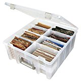 ArtBin Super Satchel Double Deep with Removable Dividers: Clear Art Craft Storage Container Box, 6990AB
