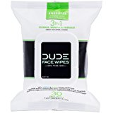 DUDE Face Wipes, Energizing & Refreshing Scent, Infused with Pro Vitamin B-5 (1 Pack, 30 Wipes per Pack)