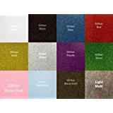 Siser Glitter Heat Transfer Vinyl for T-Shirts, 12 Color