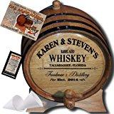 """MADE BY"" American Oak Barrel - Personalized American Oak Aging Barrel - 2014 Barrel Aged Series - Design 063: Barrel Aged Whiskey (1 Liter)"