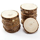 Wood Slices with Bark for Crafts, 3.5 - 4 inch 15pcs by MAIYUAN