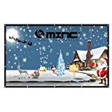 Projector Screen 120 Inch 16:9 Outdoor Portable Movie Screen Support Front Rear Projection