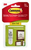 Command Picture Hanging Strips Value Pack, Small, White, 16-Pairs (17205-16ES)