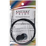 Knitter's Pride- Interchangeable, Black silver cord 49'' (125 cm to make 150 cm/ 60'' IC needle) (Code# 800106)