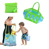 Beach Mesh Tote Bag-Perfect for Sand Toys Shell Bag for Beach,Pool, Boat (Xl Size)