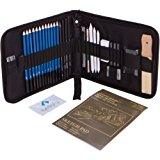 33-piece Professional Art Kit - Drawing and Sketch Kit with Pencils, Erasers, Kit Bag and Free Sketchpad - Art Supplies, Drawing Pencils, Graphite Pencils, Sketching Supplies
