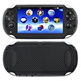 Decalrus - PlayStation PSP Vita BLACK Carbon Fiber skin skins decal for case cover wrap CFvitaBlack