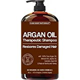 Pure Body Naturals Moroccan Argan Oil Shampoo, 16 Ounce