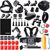 Zookki Sports Accessories Kit for GoPro 6 HERO5 Black 4 Silver Hero 3 Outdoor Action Camera Accessories for SJ4000/SJ5000/SJ5000X/SJ6 LEGEND/SJCAM M20 4K/M10 WiFi/Xiaomi Yi 4K/WiMiUS