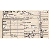 GEORGE PEPPARD (A-TEAM) signed time card for the A-TEAM