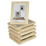 Set of 10 Unfinished Solid Wood Photo Picture Frames 4x6 Inch , Ready to Paint for DIY Projects