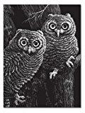 Melissa & Doug Scratch Art Scratchboard (11 x 13 inches), Black Coated - Set of 10 Boards