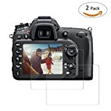 TedGem Screen Protector for Nikon D7100 D7200 D600 D610 D800 Tempered Glass Screen Protector,Tempered Glass Film for DSLR Camera,No-Bubble,Anti-scratch 9H LCD Tempered Glass(2 Pack)