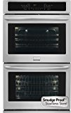 "Frigidaire Gallery Collection 30"" Double ELectric Wall Oven with 9.2 Cu Ft. Capacity and True Convection in Smudge-Proof Stainless Steel"