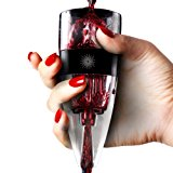 Vinluxe PRO Wine Aerator, Diffuser, Pourer, Decanter - Black - With Gift Carrying Pouch