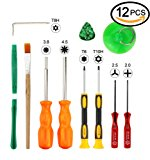 T8 T6 T10 Screwdriver Set, 3.8mm and 4.5mm Security Screwdriver Game Bit Tool Set, Full Game Tool Kit for Sega Master, Nintendo 64 Console and Xbox One, Xbox 360 Controller Game Cube Console