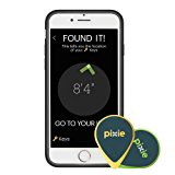 Pixie (4-pack) – Find your lost items faster by SEEING where they are. Lost item tracker/finder for Keys, Luggage, Wallet (iPhone 7 case included)