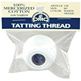DMC 19J-WHITE Brilliant Tatting Cotton Packaged, 100-Yard, Size 80, White