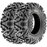 SunF All Trail A/T ATV UTV Tires 22x7-12 22x7x12 6 PR A033 (Set pair of 2)