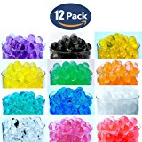 12 Pack Combo Sooper Beads Decoration Vase Filler - Water Beads Gel - 12 Colors - 5 grams per pack make over a quart per pack - Wedding Decoration Vase Filler - Furniture Decorative Vase Filler - ALMOST 3 GALLONS of BEADS TOTAL