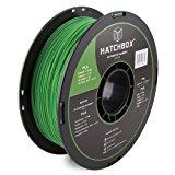 HATCHBOX 3D PLA-1KG1.75-GRN PLA 3D Printer Filament, Dimensional Accuracy +/- 0.03 mm, 1 kg Spool, 1.75 mm, Green