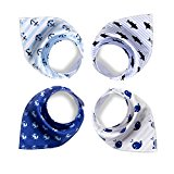Baby Bibs,Baby Bandana Drool Bibs,4-Pack Gift Set for Drooling and Teething,Unisex Design for Boys and Girls