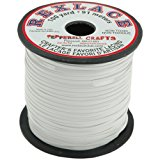 """Pepperell Rexlace Plastic Craft Lace, 3/32"""", White"""
