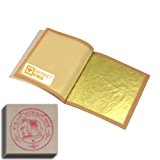 "Edible Gold Leaf Sheets 30pc M-size 24 Karat 1.2"" X 1.2"" Genuine for Cooking, Cakes & Chocolates, Decoration, Health & Spa"