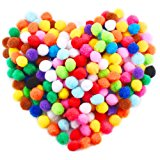 Caydo 240 Pieces 1 Inch Pom Poms for Hobby Supplies and DIY Creative Crafts Decorations, Assorted Colors