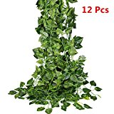 87 Ft Artificial Garland Vine,Hanging Plant Leaves Garland for Wedding Party Home Decor Indoor Outdoors.