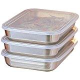 UchiCook 3-Piece Breading Trays, Silver