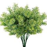 GTIDEA 4PCS Artificial Fake Plants Outdoor Faux Plastic Cedar Shrub Greenery Bushes Home Office Garden Table Centerpieces Decor
