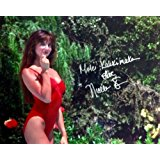 "NICOLETTE SCORSESE Autographed/Signed Christmas Vacation 8x10 Movie Photo with Special Inscription ""Mele Kalikimaka"""