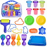 Sand Tool Box Molding Kit With Animal and Architecture Accessories Kids Educational Toy DIY Back to School Gift 20PCs | Multiple Color (6) Molding Sand Included