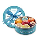 Bath Bombs, 7 Large Organic Fizzing Bath Bombs with Gift Box - Great for Birthdays Christmas Gifts for Families Lover Friends Women - Relaxation With added Detox Ability by PURENJOY