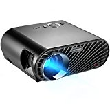 "GooDee Portable Movie Projector 3200 Lumens 1280x800 Resolution LCD Max 280"" Home Theater Video Projector with HDMI Support 1080P VGA USB SD AV TV Laptop for Entertainment Game Party"