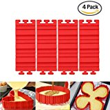 Nonstick Silicone Cake Mold Pan Magic Bake Snake DIY Baking Mould Tools Design Your Cakes Any Shape for Kitchen(Red)-4 PCS