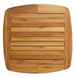 """Totally Bamboo Expandable Trivet; Heat Resistant, Durable and Beautiful Round Wood Trivet Helps Protect Tabletops & Counters in Style, 11 3/4"""" by 8 3/4"""" open, 8 3/4"""" by 8 3/4"""" closed; Designed in USA"""