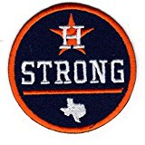 HOUSTON STRONG PATCH JERSEY PATCH 2017 WORLD SERIES CHAMPIONS